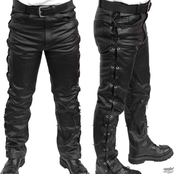 kalhoty kožené pánské MOTOR - MOT003 - POŠKOZENÉ