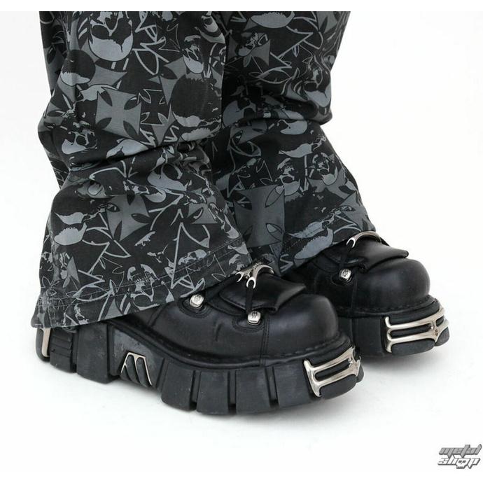 boty NEW ROCK - String Shoes (106-S1) Black - POŠKOZENÉ