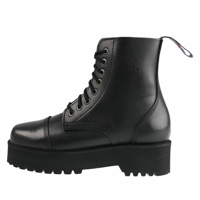 boty STEADY´S - 8 dírkové - Black - STE/804_black - POŠKOZENÉ