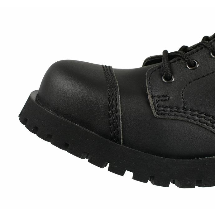 boty NEVERMIND - 10 dírkové - Vegan - Black Synthetic - 10110S - POŠKOZENÉ