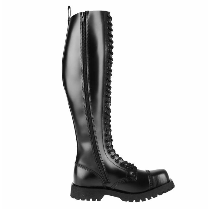 boty NEVERMIND - 30 dírkové - BLACK POLIDO