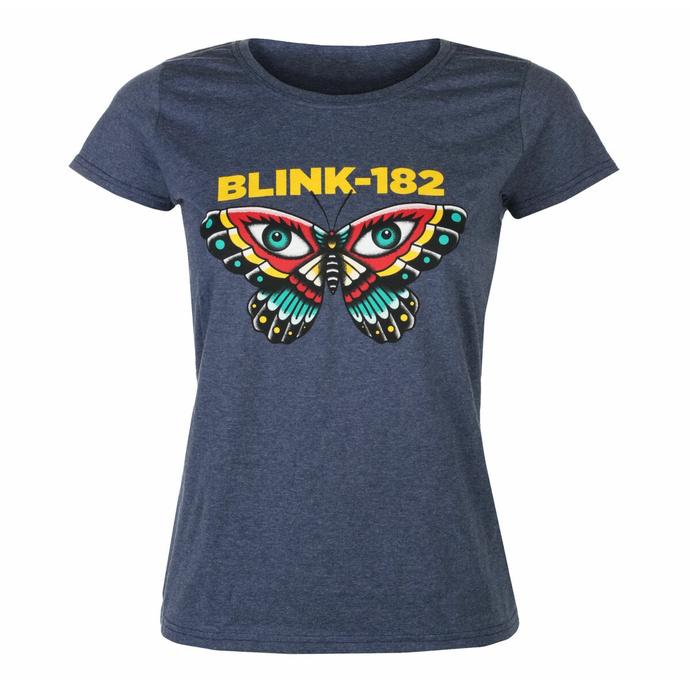 tričko dámské Blink 182 - Butterfly - Heather Navy
