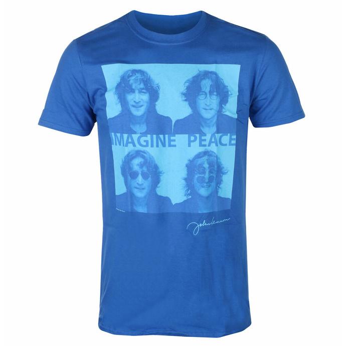 tričko pánské John Lennon - Glasses 4 Up BLUE - ROCK OFF
