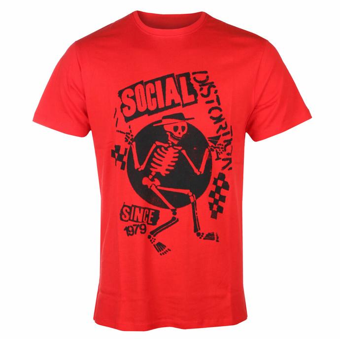 tričko pánské Social Distortion - Speakeasy Checkerboard RED - ROCK OFF