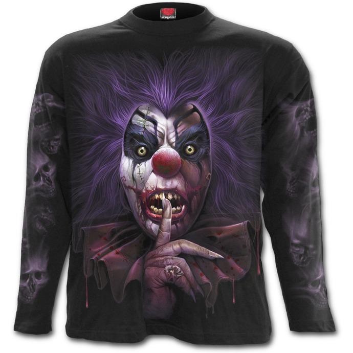 tričko pánské s dlouhým rukávem SPIRAL - MADCAP - Black