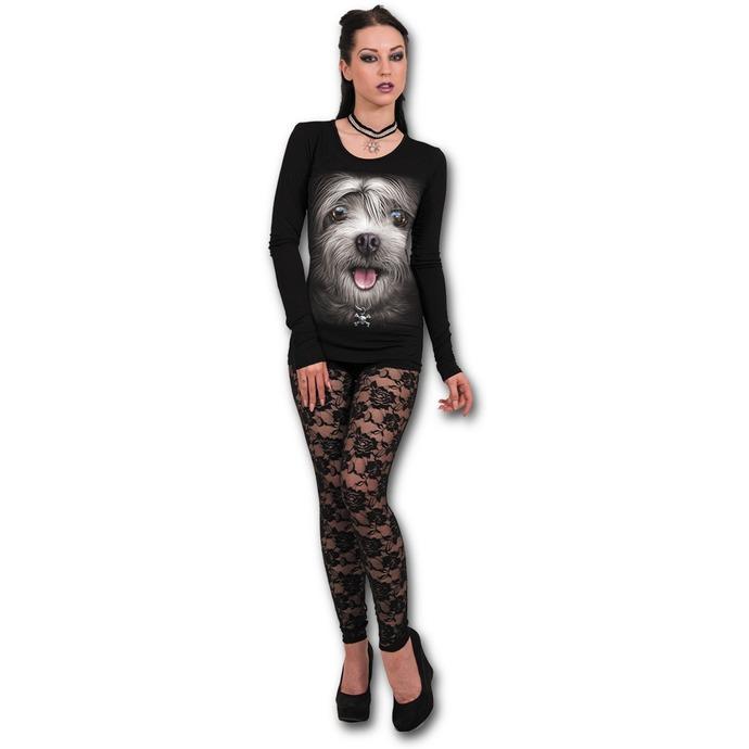 tričko dámské s dlouhým rukávem SPIRAL - MISTY EYES - Baggy Top Black