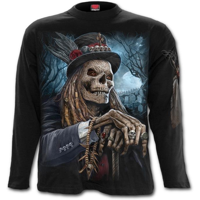 tričko pánské s dlouhým rukávem SPIRAL - VOODOO CATCHER - Black