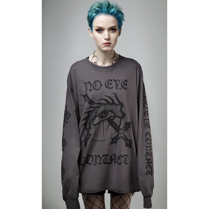 tričko s dlouhým rukávem (unisex) DISTURBIA - No Eye Contact - Charcoal