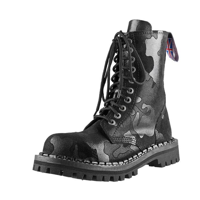 boty STEADY´S - 10 dírkové - Black camo
