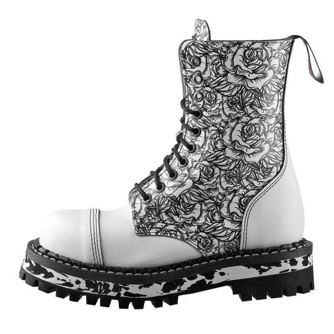 boty STEADY´S - 10 dírkové - White Rose