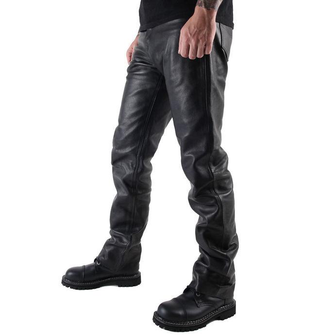 kalhoty pánské kožené OSX - Martin - Black