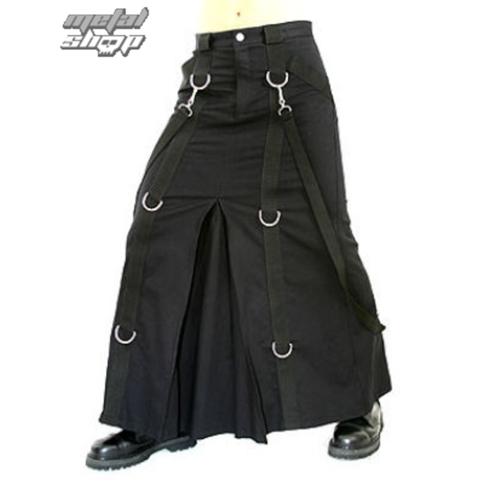 kilt Aderlass - Chain Skirt Denim Black