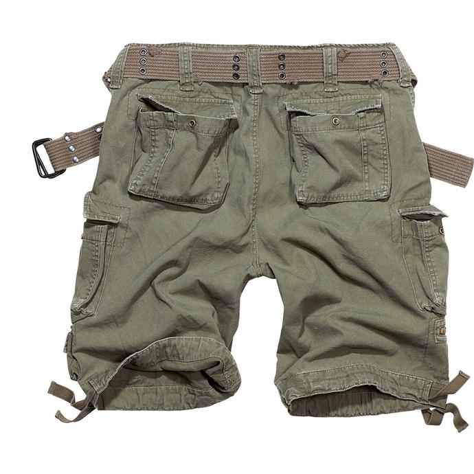 kraťasy pánské BRANDIT - Savage Vintage Shorts Oliv