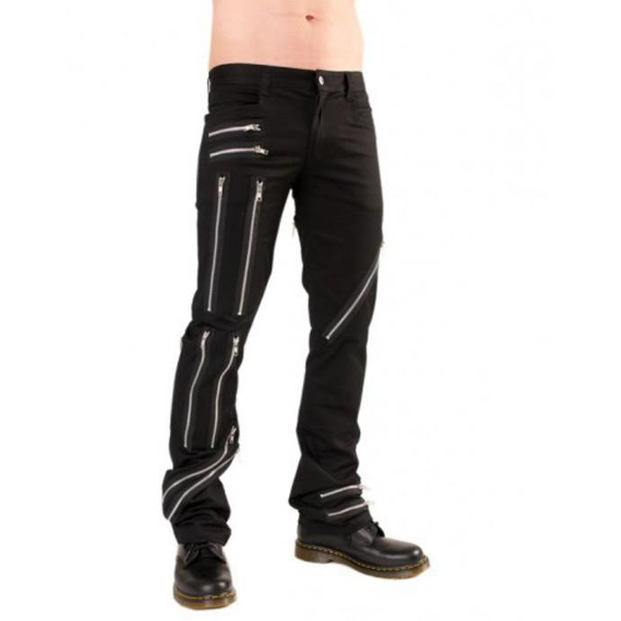 kalhoty pánské Black Pistol - Zipper Pants Denim Black