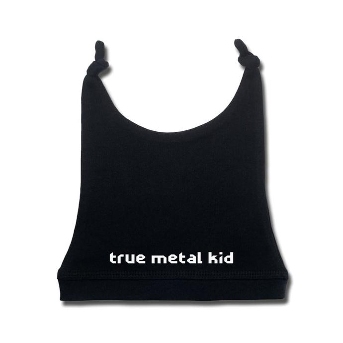 čepice dětská true metal kid in white - black - Metal-Kids
