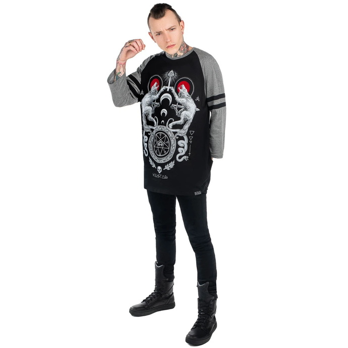 tričko s 3/4 rukávem unisex KILLSTAR - Varg Raglan - BLACK