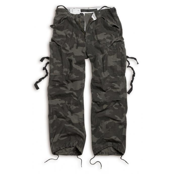 kalhoty SURPLUS - Vintage - BLACK CAMO