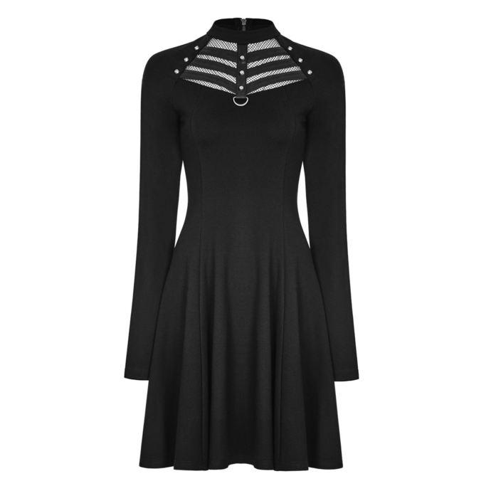 šaty dámské PUNK RAVE - Shiva - black Gothic
