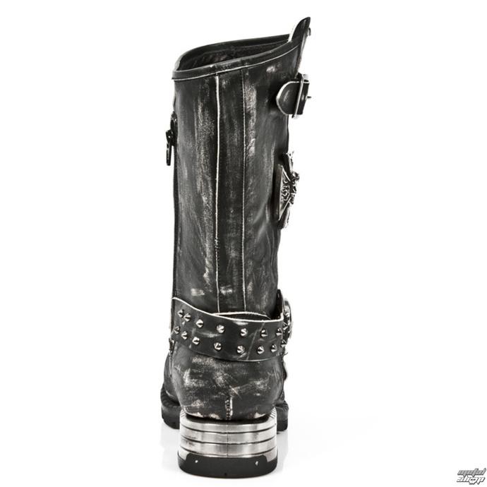 boty NEW ROCK - VINTAGE RASPADO MOTOROCK T.ACERO - M.MR030-S2 - POŠKOZENÉ