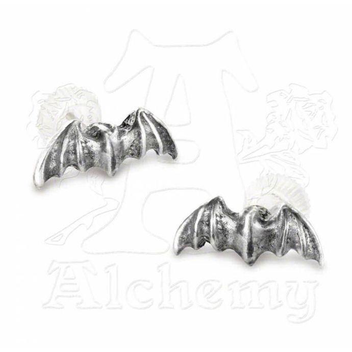 náušnice Bat studs - Alchemy Gothic