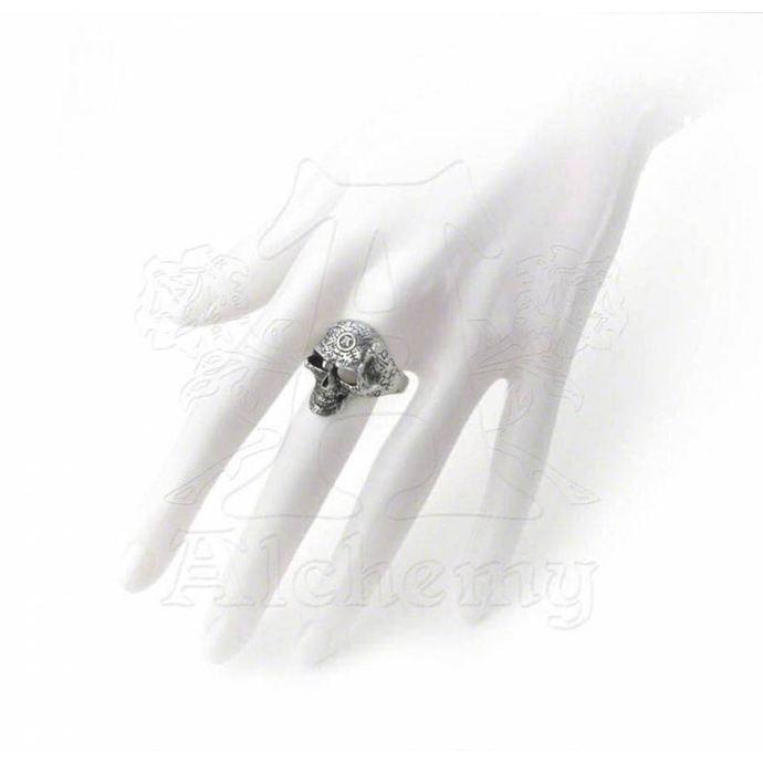 prsten Omega Skull ALCHEMY GOTHIC