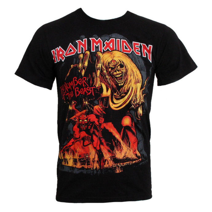 tričko pánské Iron Maiden - The Number of the Beast - ROCK OFF