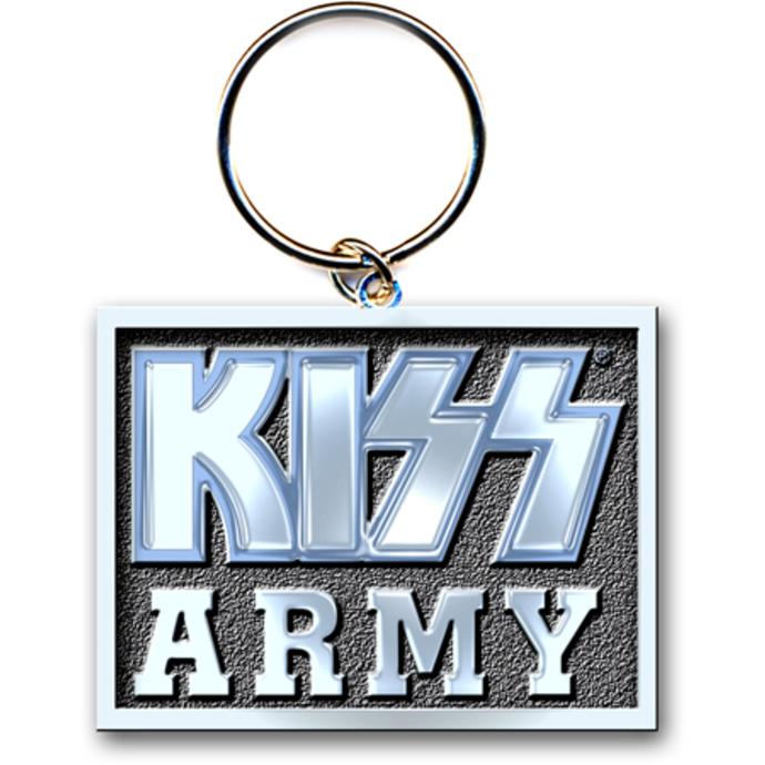 klíčenka (přívěšek) KISS - Army Block -  ROCK OFF