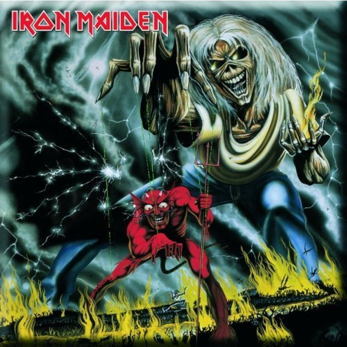 magnet Iron Maiden - Number Of The Beast Fridge Magnet - ROCK OFF