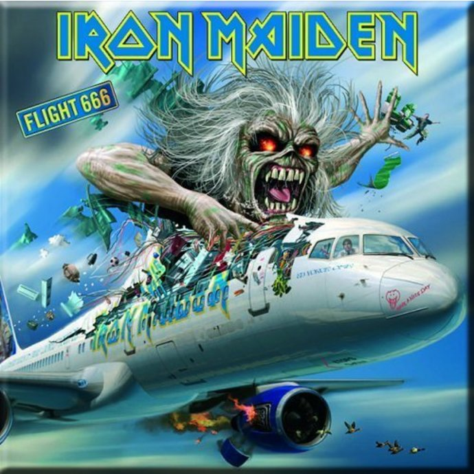 magnet Iron Maiden - Flight 666 Fridge Magnet - ROCK OFF