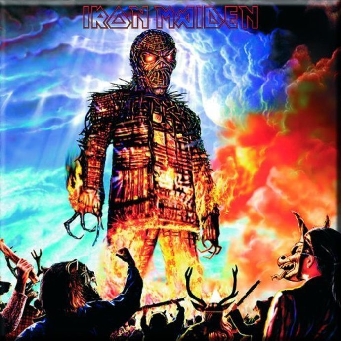 magnet Iron Maiden - Wicker Man Fridge Magnet - ROCK OFF