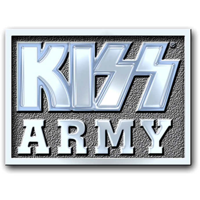 připínaček Kiss - Army Block pin badge - ROCK OFF