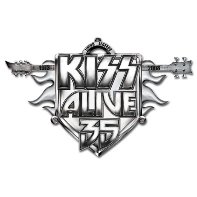 připínaček Kiss - Alive 35 Tour pin badge - ROCK OFF