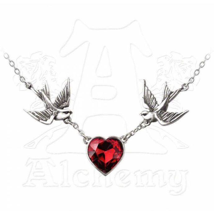 obojek Swallow Heart Pendant - ALCHEMY GOTHIC