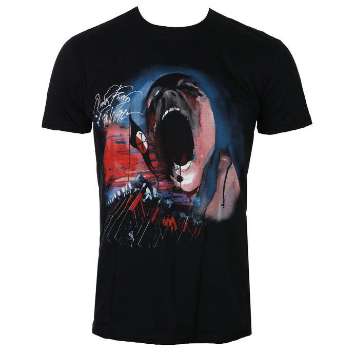 tričko pánské Pink Floyd - The Wall Scream & Hammers - Black - ROCK OFF