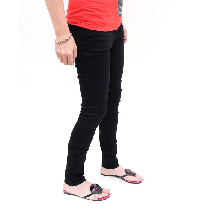 kalhoty dámské -skinny- IRON FIST - Heatlocked - BLACK