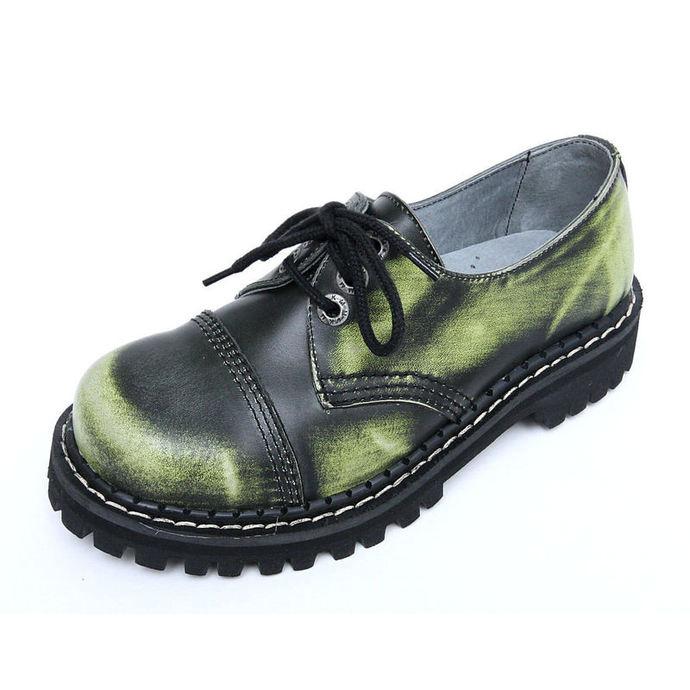 boty KMM 3dírkové - Green/Black/White