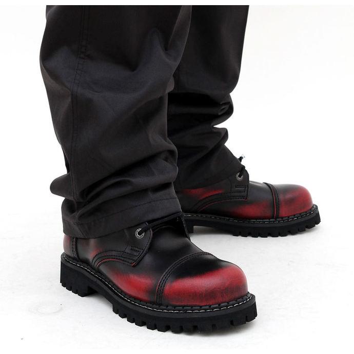 boty KMM 10dírkové - Red/Black