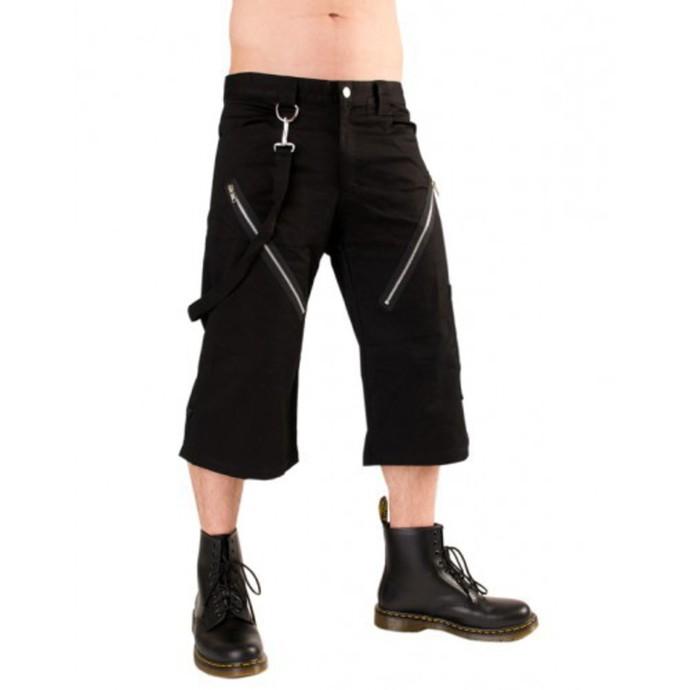 kraťasy 3/4 pánské Black Pistol - Zip Short Pants Denim Black
