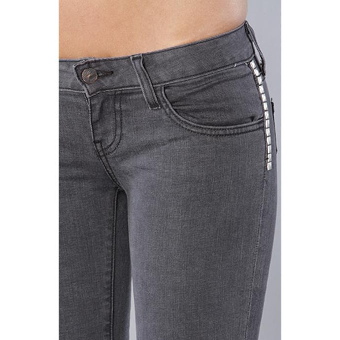 kalhoty dámské VANS - Skinny Ankle Denim - Charcoal
