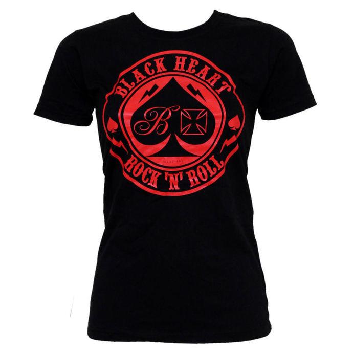 tričko dámské BLACK HEART - Ace Of Spades - Black