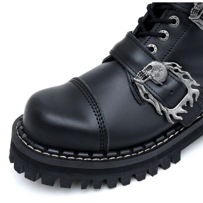 boty KMM 14dírkové - Big Skulls Black Monster 4P