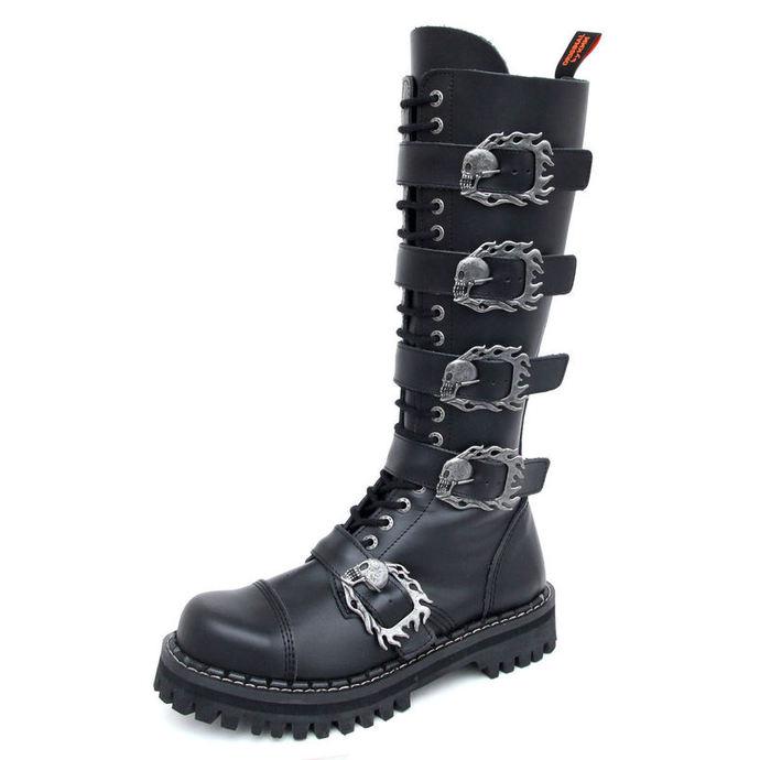 boty KMM 20dírkové - Big Skulls Black Monster 5P