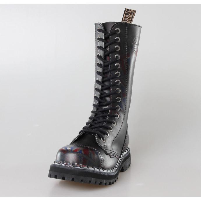 boty STEEL -15 dírkové  Union Jack Black (135/136 UK Black )