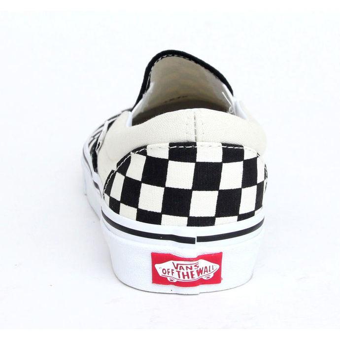 boty VANS - Classic Slip On - Black And White Checker - White