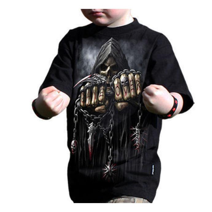 tričko dětské SPIRAL - Game Over - Black