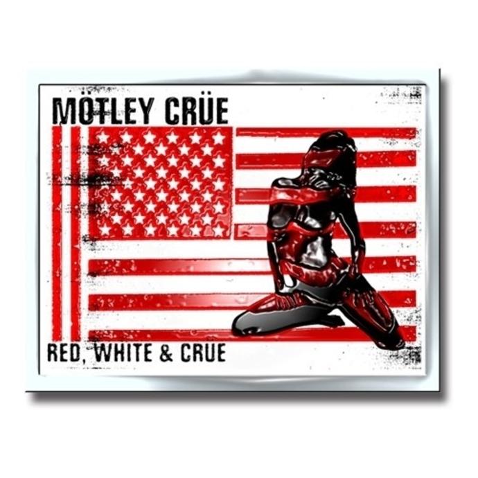 připínáček Motley Crue - Crue Logo - Red/White - ROCK OFF