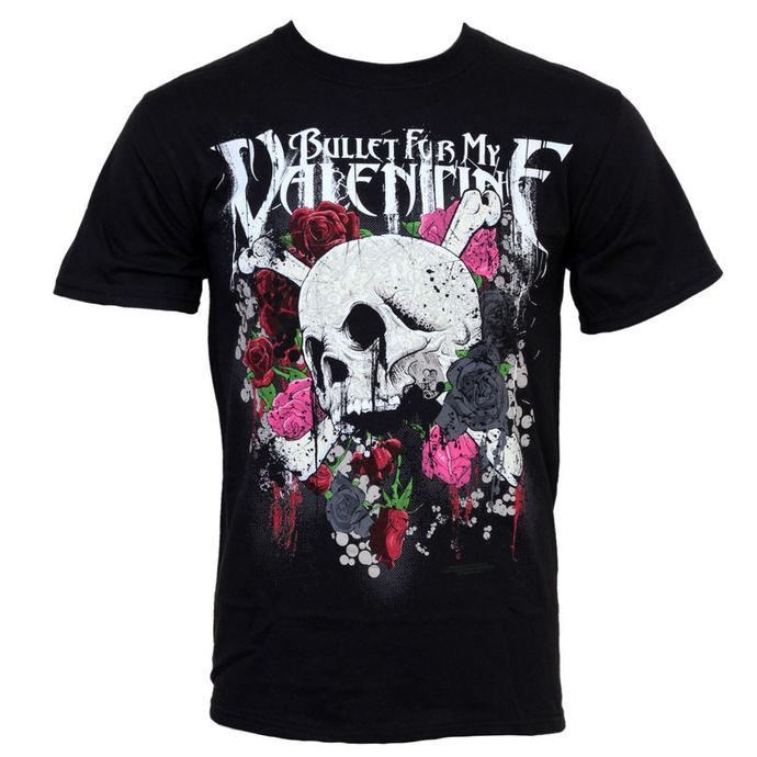 tričko pánské Bullet For My Valentine - Skull And Roses - BRAVADO
