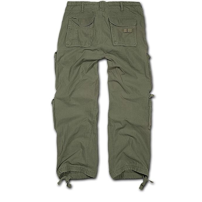 kalhoty pánské BRANDIT - Pure Vintage Trouser Oliv