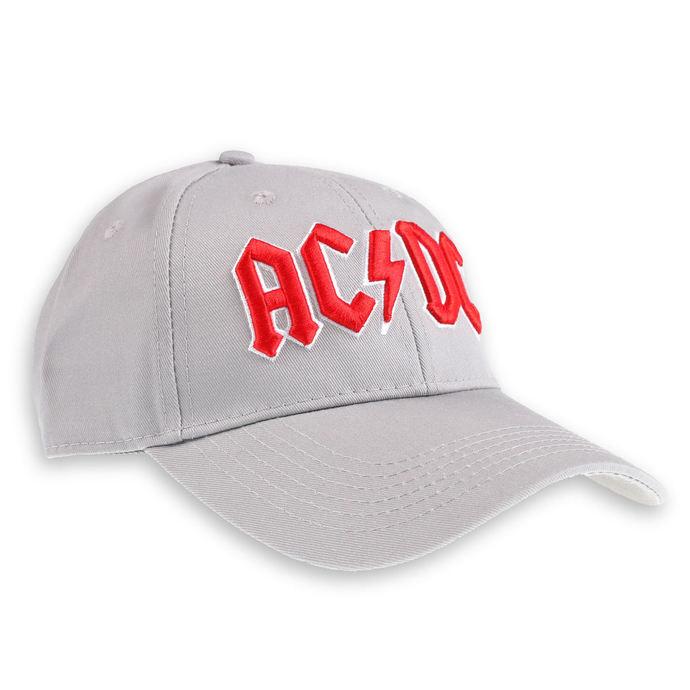kšiltovka AC/DC - Red Logo Grey - ROCK OFF
