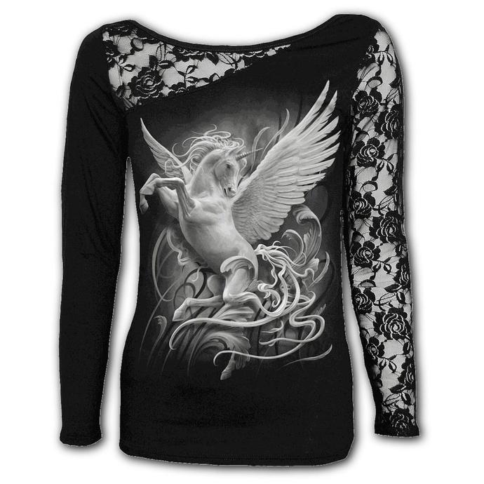 tričko dámské s dlouhým rukávem SPIRAL - PURITY - Black